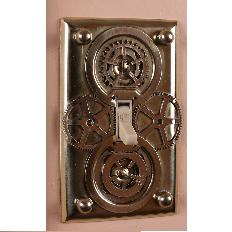 Steampunk DIY Light Switch Plates
