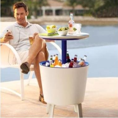 Cocktail Table, Side Table and Cooler - 3 in 1