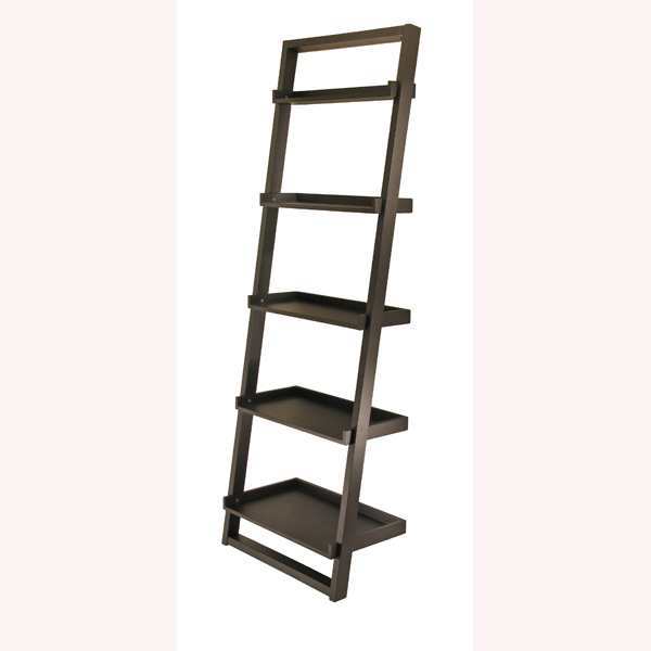 contemporary-black-finish-5-tier-ladder-book-shelf-pictures