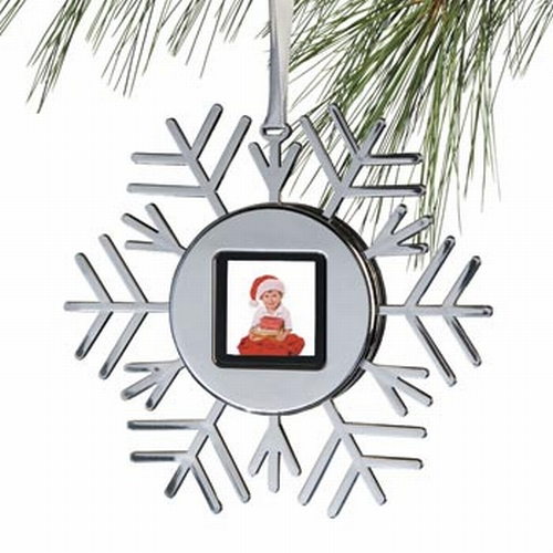 Snowflake Digital Photo Ornament-pictures