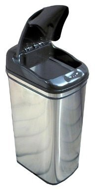 iTouchless Stainless-Steel Hands-Free Infrared Trash Can-pictures-2